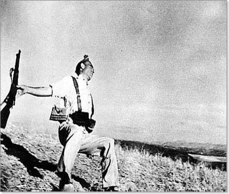 Découverte de photos inédites de capa sur la guerre civile espagnole