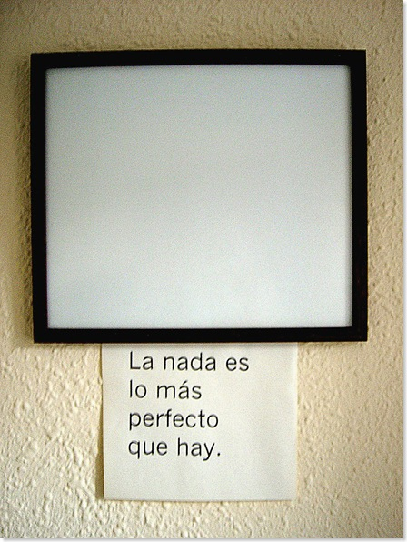 LA NADA ES LO MÁS PERFECTO QUE HAY (FOTO)