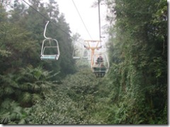 The cable car to the top of the mountain
