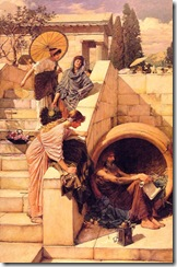 """Passerby, """"You're a barrel of laughs, Diogenes."""""""